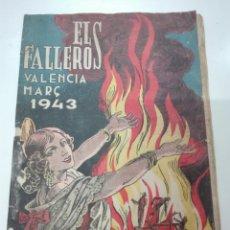 Documentos antiguos: EL FALLERO VALENCIA MARZO 1943. Lote 101179070