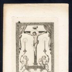 Documentos antiguos: GRABADO RELIGIOSO DEL SANTISIMO CRISTO DEL ORCAJO (ZARAGOZA). Lote 101451327