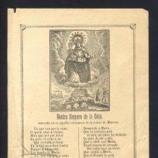 Documentos antiguos: GOIGS DE LA MARE DE DEU DE LA GUIA, VENERADA A MANRESA. Lote 101616967