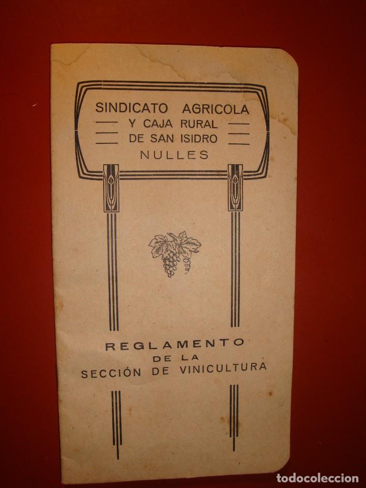 SINDICATO DE NULES (Coleccionismo - Documentos - Otros documentos)
