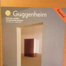 Documentos antiguos: GUIA DEL MUSEO GUGGENHEIM BILBAO (OCTUBRE 2000 - MARZO 2001) PERCEPCIONES EN TRANSFORMACION. Lote 101789163