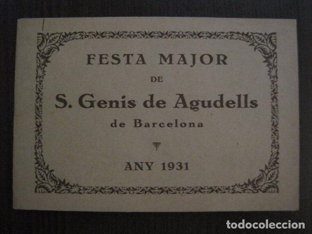 S. GENIS DE AGUDELLS- BARCELONA-FESTA MAJOR ANY 1931 -VER FOTOS - (V-12.451) (Coleccionismo - Documentos - Otros documentos)