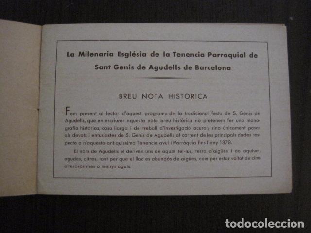 Documentos antiguos: S. GENIS DE AGUDELLS- BARCELONA-FESTA MAJOR ANY 1931 -VER FOTOS - (V-12.451) - Foto 2 - 102017959