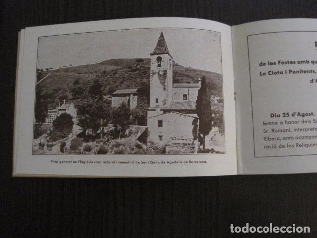 Documentos antiguos: S. GENIS DE AGUDELLS- BARCELONA-FESTA MAJOR ANY 1931 -VER FOTOS - (V-12.451) - Foto 4 - 102017959