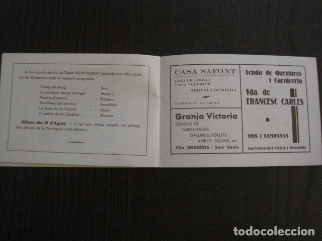 Documentos antiguos: S. GENIS DE AGUDELLS- BARCELONA-FESTA MAJOR ANY 1931 -VER FOTOS - (V-12.451) - Foto 10 - 102017959