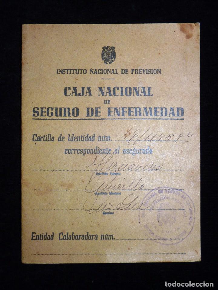 CAJA NACIONAL DE SEGURO DE ENFERMEDAD. INSTITUTO NACIONAL DE PREVISIÓN. VALENCIA, 1944 (Coleccionismo - Documentos - Otros documentos)