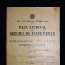 Documentos antiguos: CAJA NACIONAL DE SEGURO DE ENFERMEDAD. INSTITUTO NACIONAL DE PREVISIÓN. VALENCIA, 1944. Lote 102272127