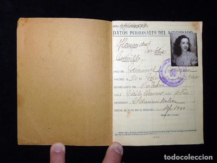 Documentos antiguos: CAJA NACIONAL DE SEGURO DE ENFERMEDAD. INSTITUTO NACIONAL DE PREVISIÓN. VALENCIA, 1944 - Foto 2 - 102272127