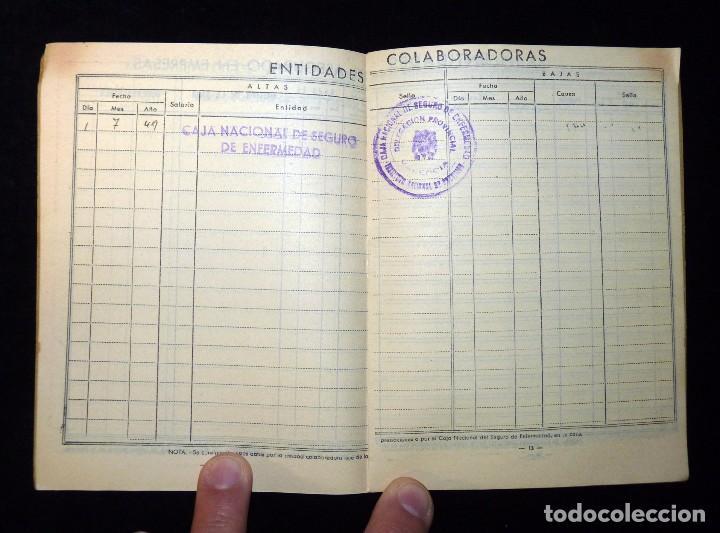 Documentos antiguos: CAJA NACIONAL DE SEGURO DE ENFERMEDAD. INSTITUTO NACIONAL DE PREVISIÓN. VALENCIA, 1944 - Foto 3 - 102272127