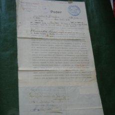 Documentos antiguos: DOCUMENTO PODER NOTARIA THOMAS BERRIDGE COX, NOTTINGHAM 1904 - VICECONSULADO DE ESPAÑA. Lote 102503603