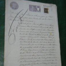 Documentos antiguos: CERTIFICADO DE DEFUNCION, JUZGADO DE LA BARCELONETA BARCELONA 1899. Lote 102505871