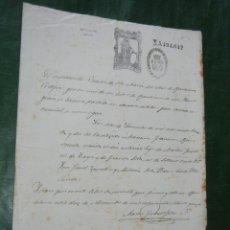Documentos antiguos: PARTIDA DE BAUTISMO, PARROQUIA DE SANTA MARIA DEL MAR, BARCELONA 1874 1A REPUBLICA. Lote 102506331
