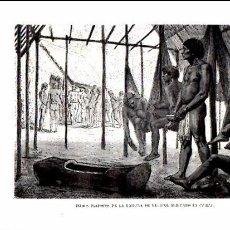 Documentos antiguos: EL MUNDO ILUSTRADO 1880 - GRABADO - INDIOS PIAPOCOS DE LA LAGUNA DE RECIFAL. Lote 102726207