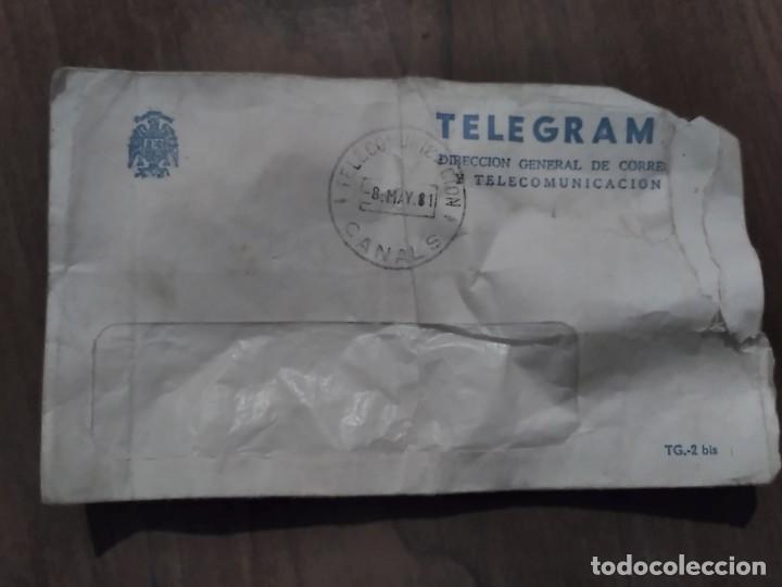 SOBRE DE TELEGRAMA - CAJA POSTAL DE AHORROS - 1981 (Coleccionismo - Documentos - Otros documentos)