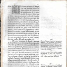Documentos antiguos: INTERESANTE DOCUMENTO SOBRE ADUANAS, VENTA DE GÉNEROS A BORDO DE NAVÍOS... ISLAS CANARIAS. S. XVIII. Lote 102919115
