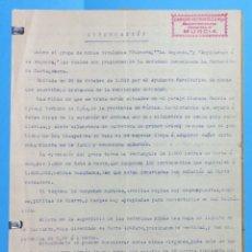 Documentos antiguos: OJOS- CARTAGENA- MINERIA. Lote 102950511