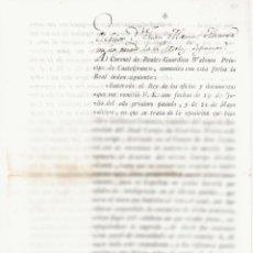 Documentos antiguos: NUMULITE A3007 CONDE DE CADAQUÉS CARTA RESOLUCIÓN SENTENCIA DE MUERTE DESERTOR TROPAS MADRID 1798. Lote 103063267
