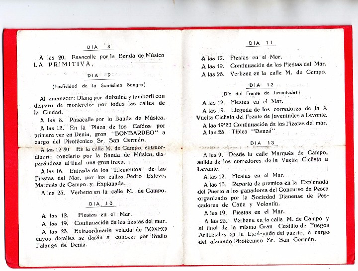 Documentos antiguos: denia. programa oficial fiestas 1952 - Foto 3 - 103141787