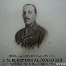 Documentos antiguos: RECORDATORIO DE LA MUERTE DE S.M. EL REY DON ALFONSO XIII POR HAUSER Y MENET 1941. Lote 103148555