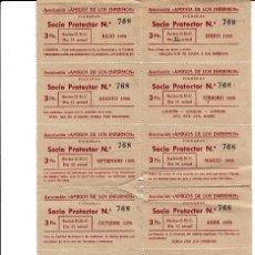 Documentos antiguos: ASOCIACIÓN AMIGOS DE LOS ENFERMOS -FIGUERAS-FIGUERES- AÑO 1958 12 MESES . Lote 103512223