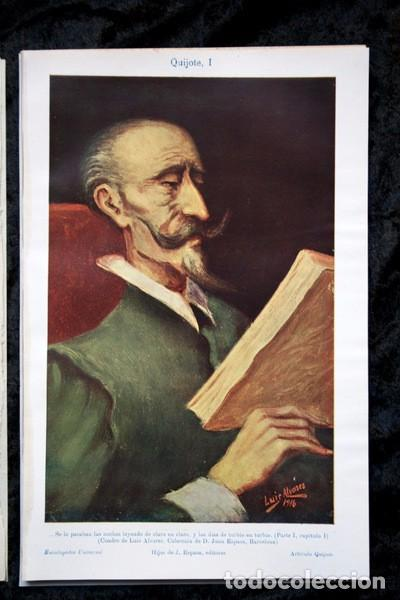 QUIJOTE - CON LAMINAS COLOR - LISTADO EDICIONES - DOCUMENTACION CERVANTINA - 1922 - 97 PÁGINAS (Coleccionismo - Documentos - Otros documentos)