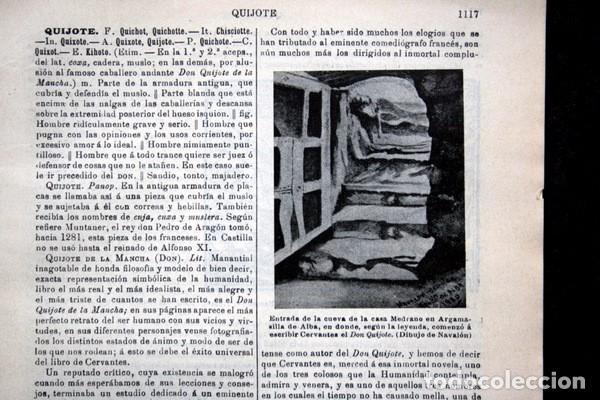 Documentos antiguos: QUIJOTE - CON LAMINAS COLOR - LISTADO EDICIONES - DOCUMENTACION CERVANTINA - 1922 - 97 páginas - Foto 2 - 103523339