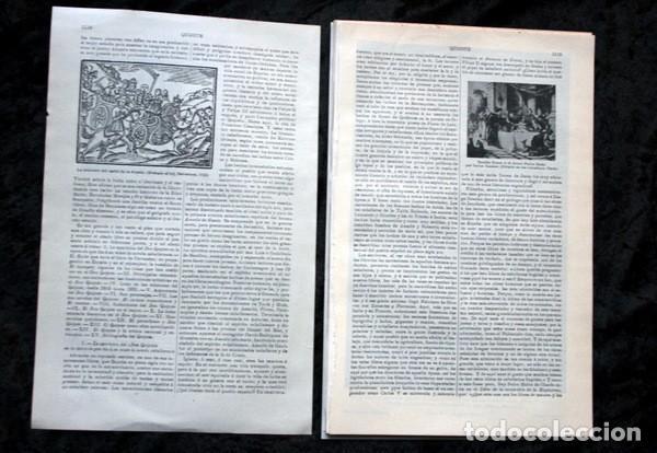 Documentos antiguos: QUIJOTE - CON LAMINAS COLOR - LISTADO EDICIONES - DOCUMENTACION CERVANTINA - 1922 - 97 páginas - Foto 3 - 103523339