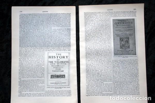 Documentos antiguos: QUIJOTE - CON LAMINAS COLOR - LISTADO EDICIONES - DOCUMENTACION CERVANTINA - 1922 - 97 páginas - Foto 5 - 103523339