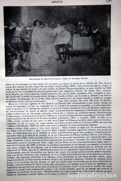 Documentos antiguos: QUIJOTE - CON LAMINAS COLOR - LISTADO EDICIONES - DOCUMENTACION CERVANTINA - 1922 - 97 páginas - Foto 7 - 103523339