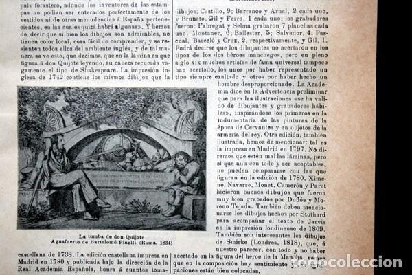 Documentos antiguos: QUIJOTE - CON LAMINAS COLOR - LISTADO EDICIONES - DOCUMENTACION CERVANTINA - 1922 - 97 páginas - Foto 8 - 103523339