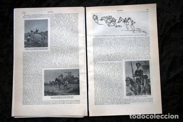 Documentos antiguos: QUIJOTE - CON LAMINAS COLOR - LISTADO EDICIONES - DOCUMENTACION CERVANTINA - 1922 - 97 páginas - Foto 9 - 103523339