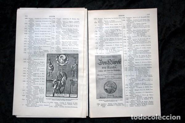 Documentos antiguos: QUIJOTE - CON LAMINAS COLOR - LISTADO EDICIONES - DOCUMENTACION CERVANTINA - 1922 - 97 páginas - Foto 12 - 103523339