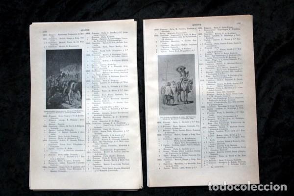 Documentos antiguos: QUIJOTE - CON LAMINAS COLOR - LISTADO EDICIONES - DOCUMENTACION CERVANTINA - 1922 - 97 páginas - Foto 13 - 103523339