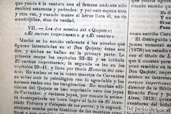 Documentos antiguos: QUIJOTE - CON LAMINAS COLOR - LISTADO EDICIONES - DOCUMENTACION CERVANTINA - 1922 - 97 páginas - Foto 17 - 103523339