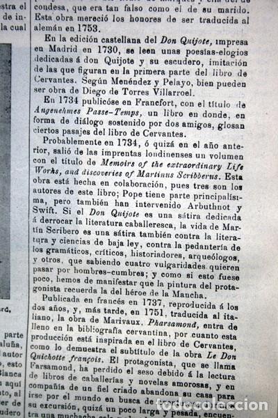 Documentos antiguos: QUIJOTE - CON LAMINAS COLOR - LISTADO EDICIONES - DOCUMENTACION CERVANTINA - 1922 - 97 páginas - Foto 19 - 103523339