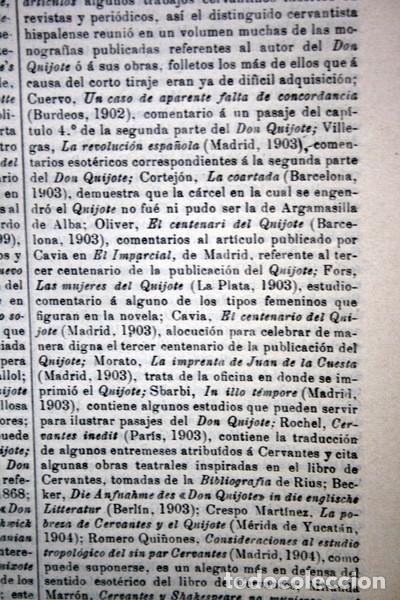 Documentos antiguos: QUIJOTE - CON LAMINAS COLOR - LISTADO EDICIONES - DOCUMENTACION CERVANTINA - 1922 - 97 páginas - Foto 21 - 103523339