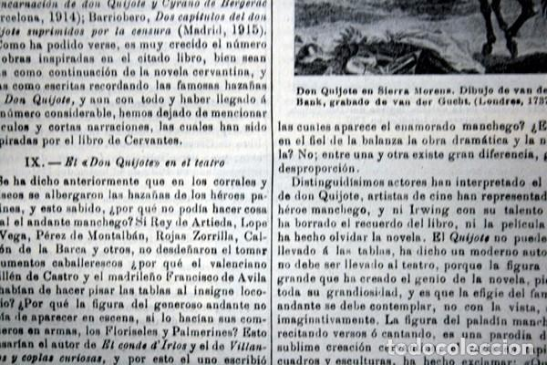 Documentos antiguos: QUIJOTE - CON LAMINAS COLOR - LISTADO EDICIONES - DOCUMENTACION CERVANTINA - 1922 - 97 páginas - Foto 22 - 103523339
