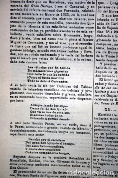 Documentos antiguos: QUIJOTE - CON LAMINAS COLOR - LISTADO EDICIONES - DOCUMENTACION CERVANTINA - 1922 - 97 páginas - Foto 24 - 103523339