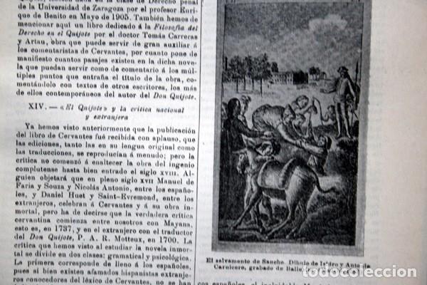 Documentos antiguos: QUIJOTE - CON LAMINAS COLOR - LISTADO EDICIONES - DOCUMENTACION CERVANTINA - 1922 - 97 páginas - Foto 25 - 103523339