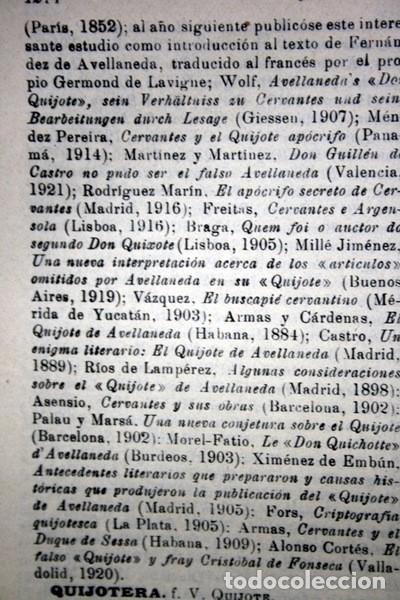 Documentos antiguos: QUIJOTE - CON LAMINAS COLOR - LISTADO EDICIONES - DOCUMENTACION CERVANTINA - 1922 - 97 páginas - Foto 28 - 103523339