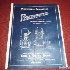 Documentos antiguos: PROYECTO DEL 1926 CON PLANO PARA LA INSTALACION DE 2 MAQUINAS PARA LA FABRICA VINOS TORRAS. Lote 103703523