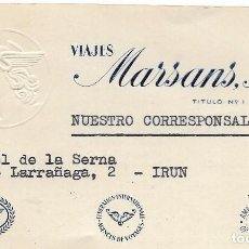 Documentos antiguos: ** AM531 - TARJETA DE VISITA - VIAJES MARSANS . Lote 103799067