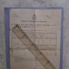 Documentos antiguos: SERVICIO AGRONOMO NACIONAL - EN BURRIANA (CASTELLON ) 8 - 11 - 1927. Lote 103842419