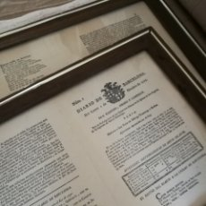 Documentos antiguos: DIARIO DE BARCELONA N° 1 , OCTUBRE 1792.ENMARCADO FACSÍMIL (HAY 2 UNI.,UNA ENMARCADA POR CADA CARA).. Lote 103933742