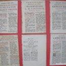 Documentos antiguos: RELIGION.-OFFICIUM IN FESTO.-OFFICIUM SANCTI ELIAE.-BEATAE MARIAE VIRGINIS.-BEATI MICHAELIS.-S.XVIII. Lote 103996071