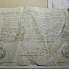 Documentos antiguos: DOCUMENTO BULA .INDULTO . ARZOBISPO TOLEDO 1950. Lote 104530688