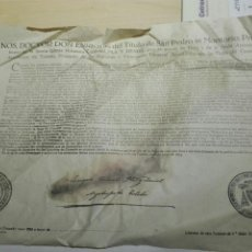 Alte Dokumente - DOCUMENTO BULA .INDULTO . ARZOBISPO TOLEDO 1953 - 104532806