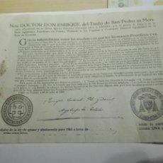 Old Documents - BULA INDULTO DE AYUNO Y ABSTINENCIA . ARZOBISPO TOLEDO 1955 - 104533651
