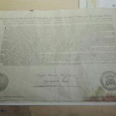 Documentos antiguos: DOCUMENTO BULA .INDULTO . ARZOBISPO TOLEDO 1950. Lote 104533960