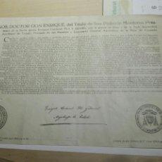 Documentos antiguos: DOCUMENTO BULA .INDULTO . ARZOBISPO TOLEDO 1955. Lote 104534306